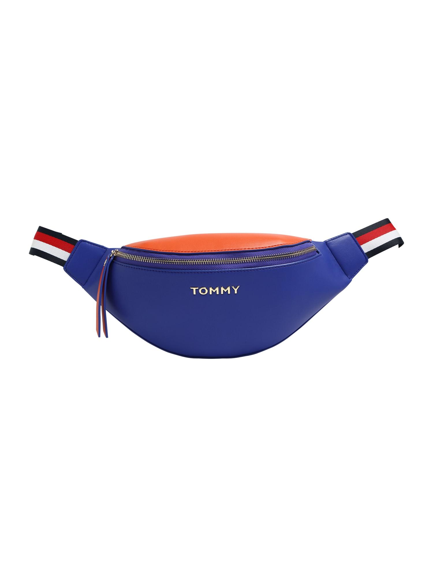 TOMMY HILFIGER Ledvinka 'Iconic Tommy Bumbag'  jasně oranžová / modrá