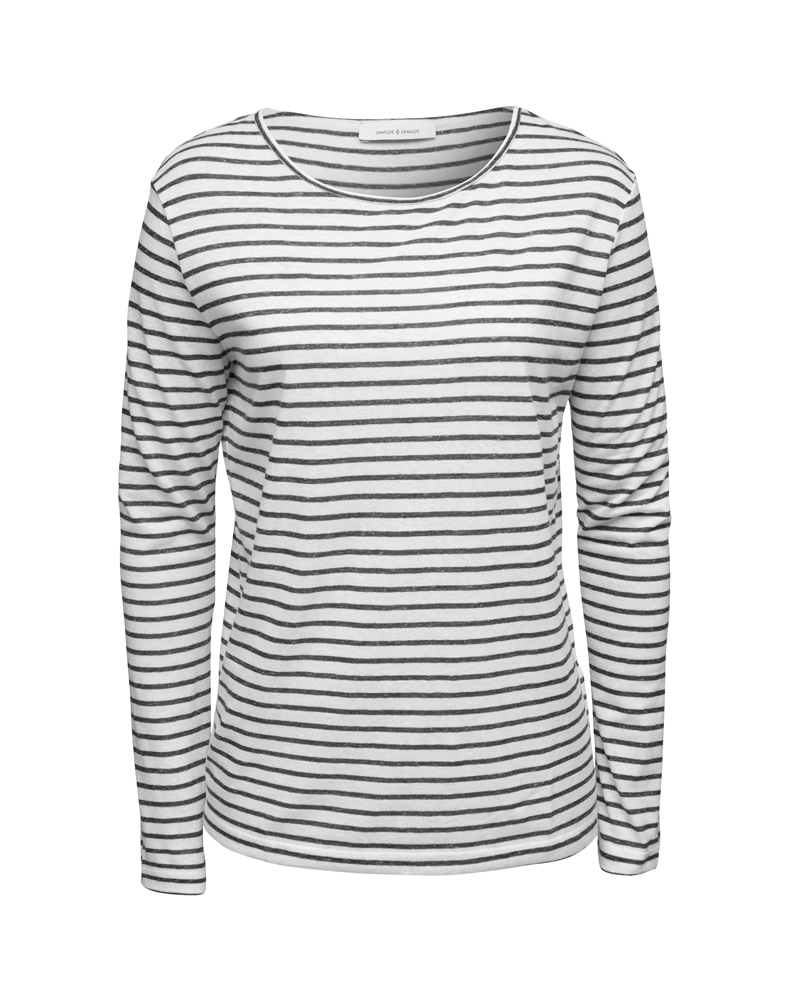Samsoe Samsoe Tričko 'Nobel 3173'  čierna / biela
