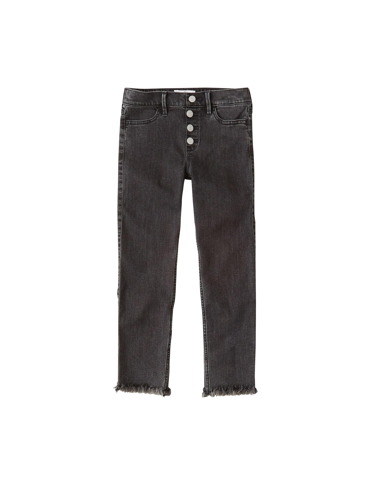 Abercrombie & Fitch Džinsai '(F-E123567) XM19-N1 HOL HR PO ANKLE SKNY 2CC' juodo džinso spalva