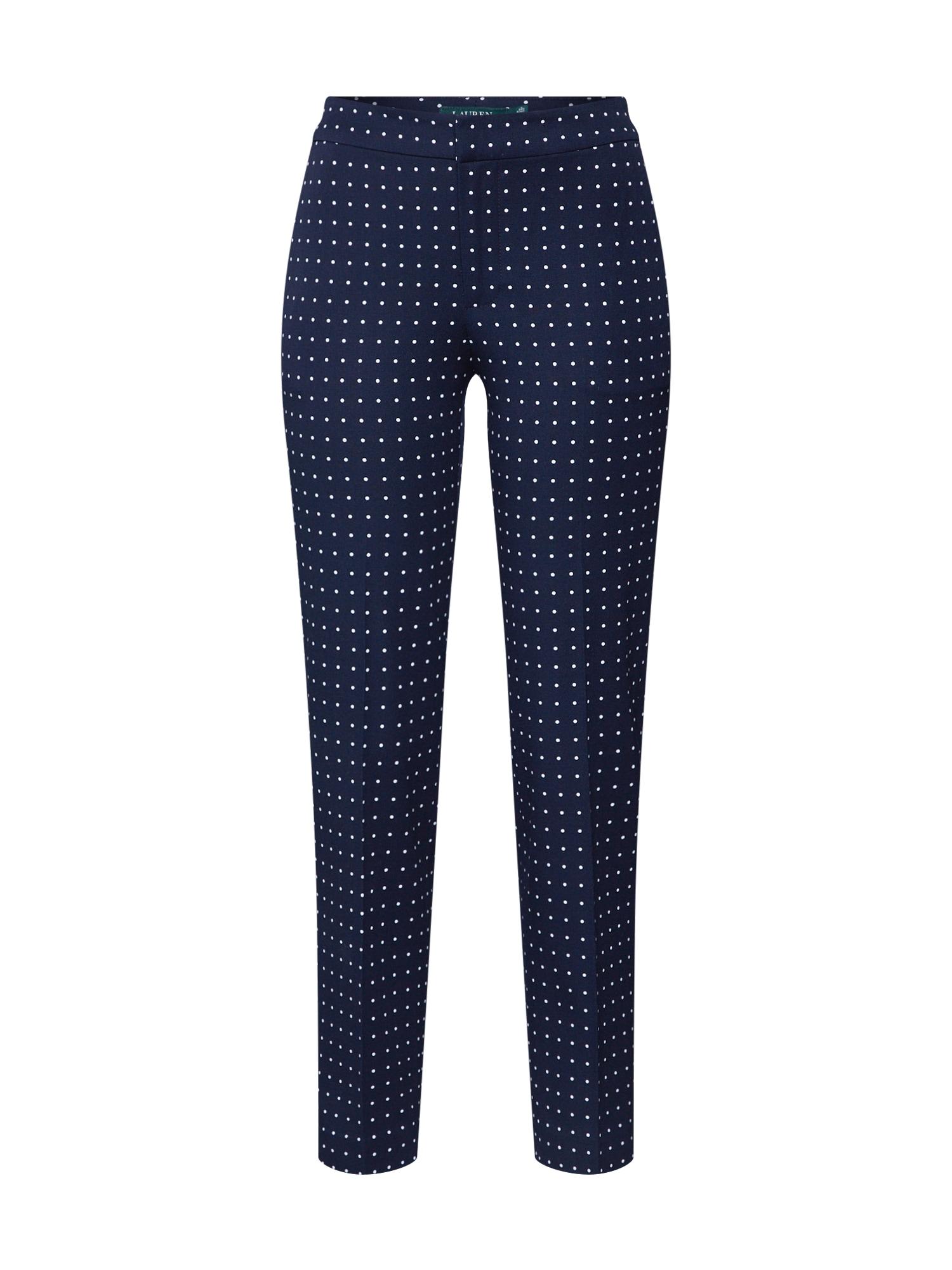 Lauren Ralph Lauren Kelnės su kantu 'LYCETTE' tamsiai mėlyna / balta