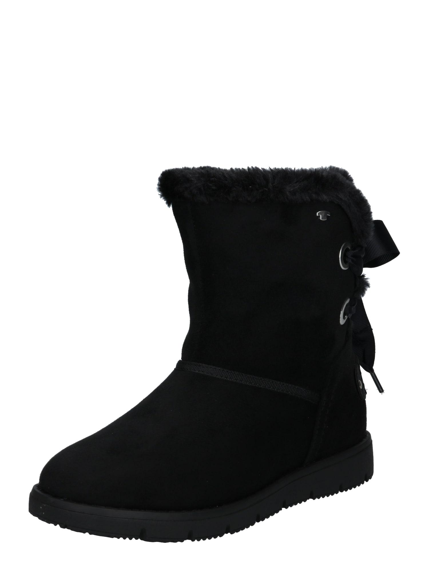 TOM TAILOR Sniego batai juoda