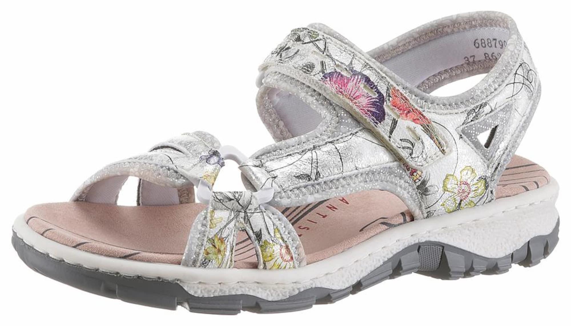 Sandály mix barev přírodní bílá RIEKER