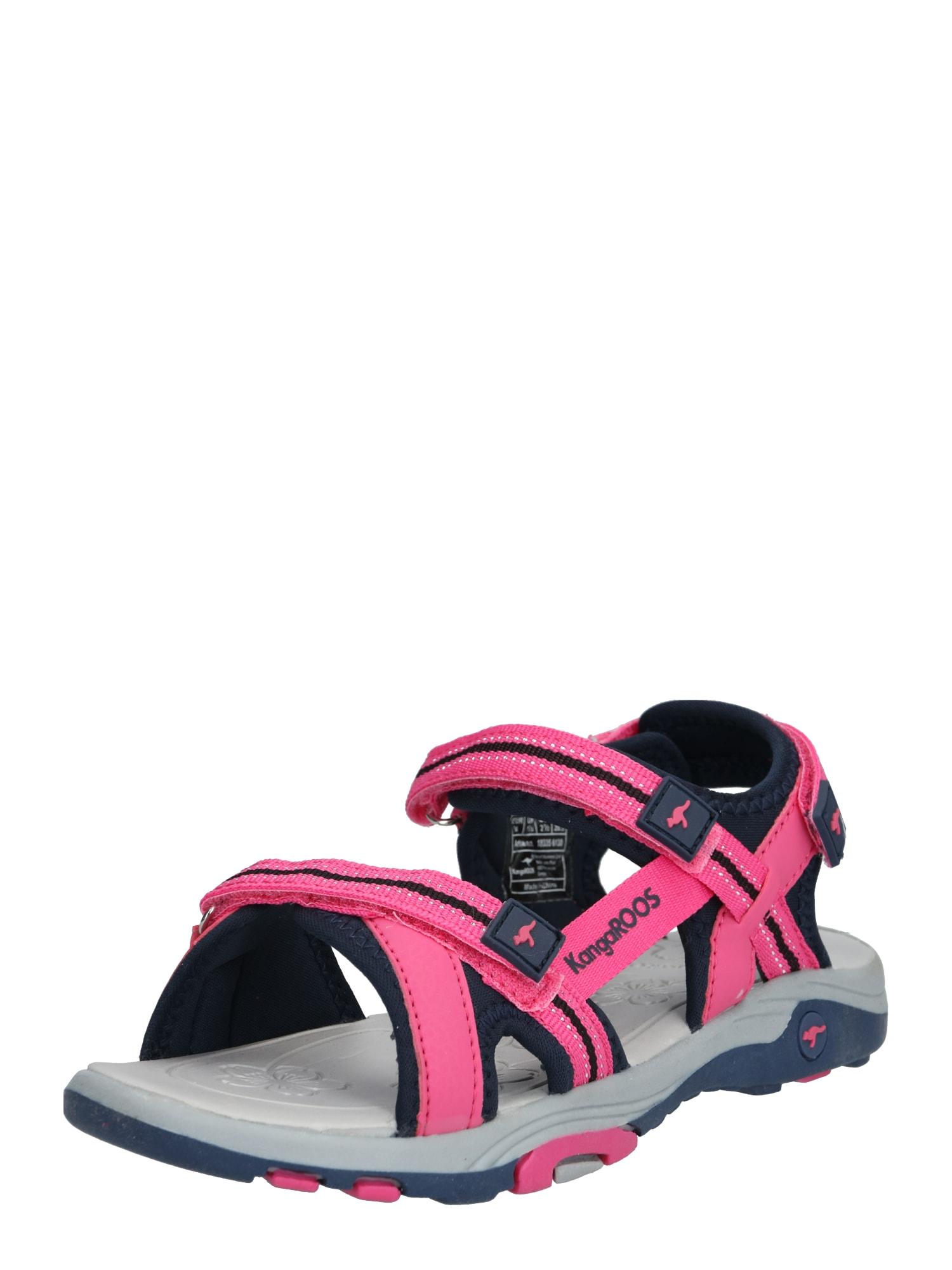 KangaROOS Atviri batai 'K-Leni' rožinė / tamsiai mėlyna