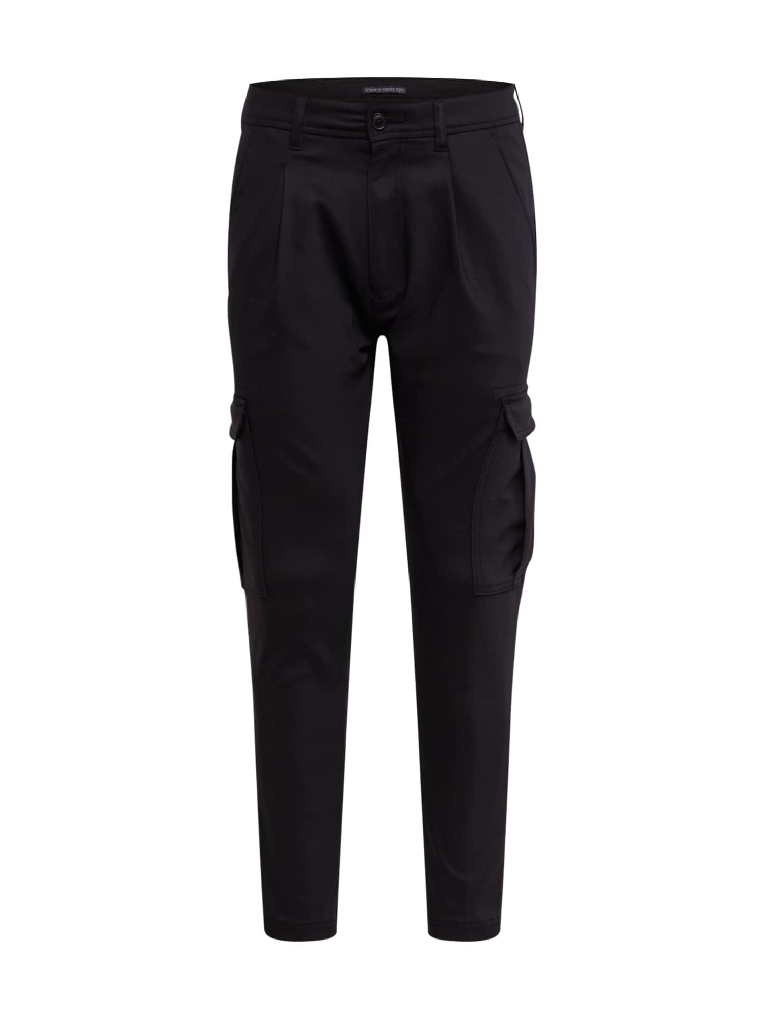 DRYKORN Laisvo stiliaus kelnės 'LAGO' juoda