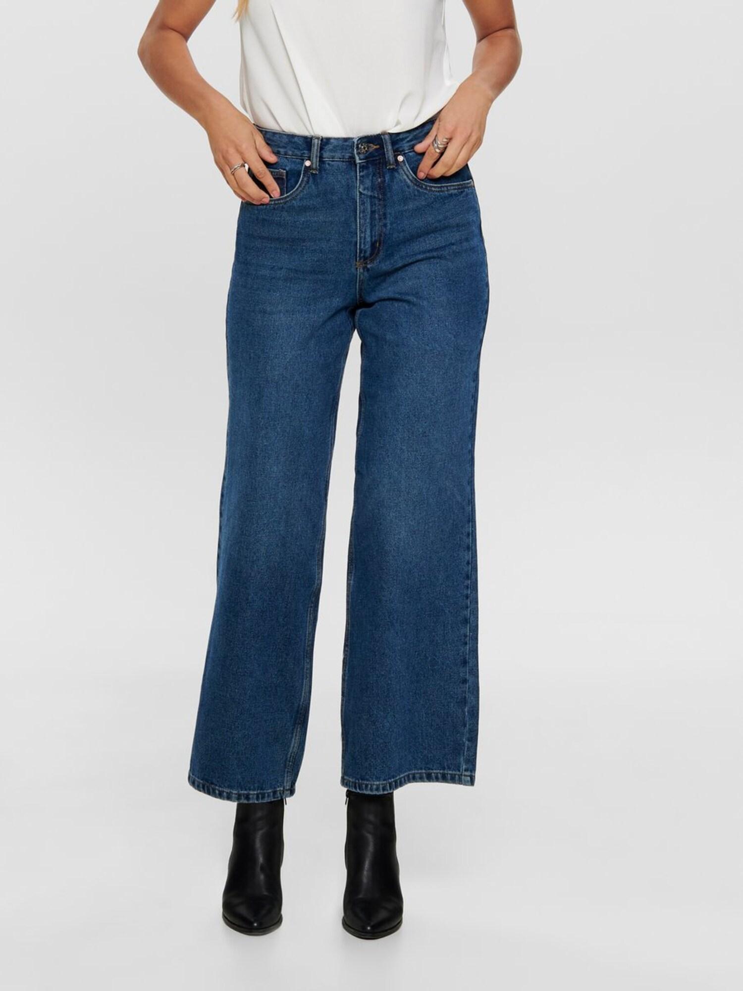 ONLY Jeans 'ONLBIANCA HW WIDE LEG DNM JEANS PIM'  blå
