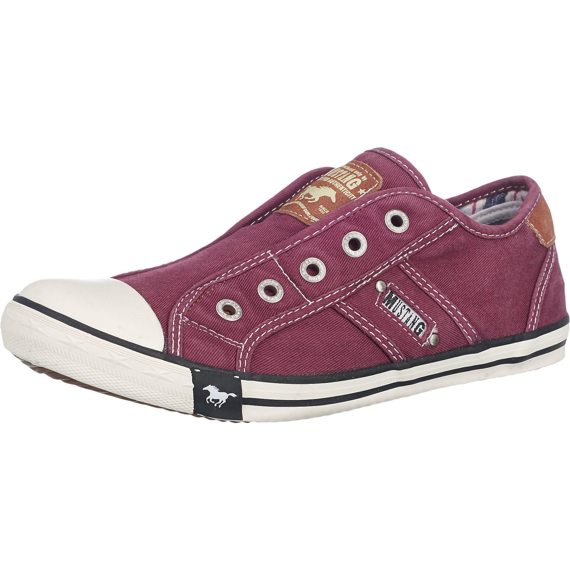 Slip on boty vínově červená MUSTANG