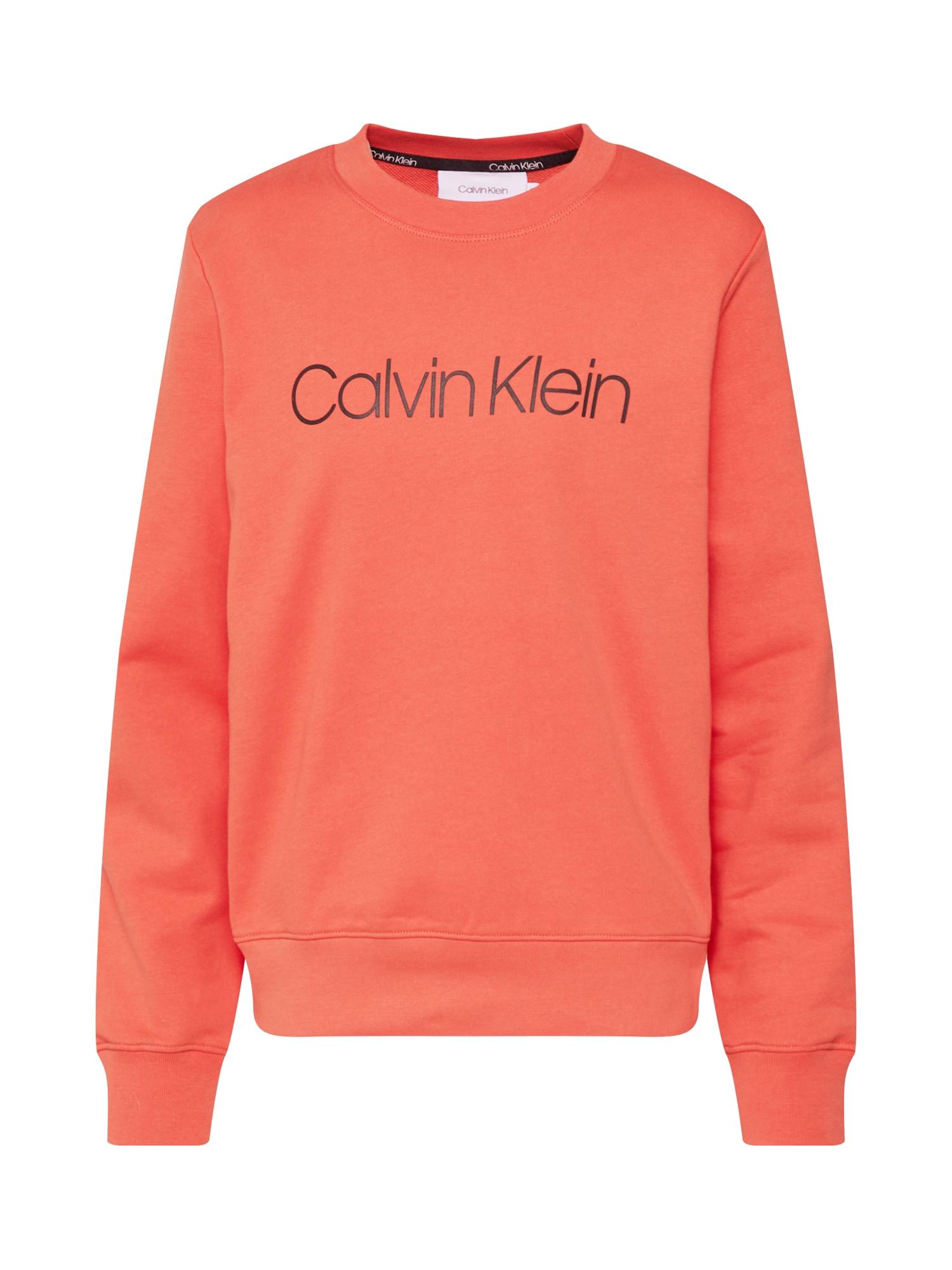 Calvin Klein Megztinis be užsegimo 'CORE LOGO PRT SWEATSHIRT' oranžinė-raudona