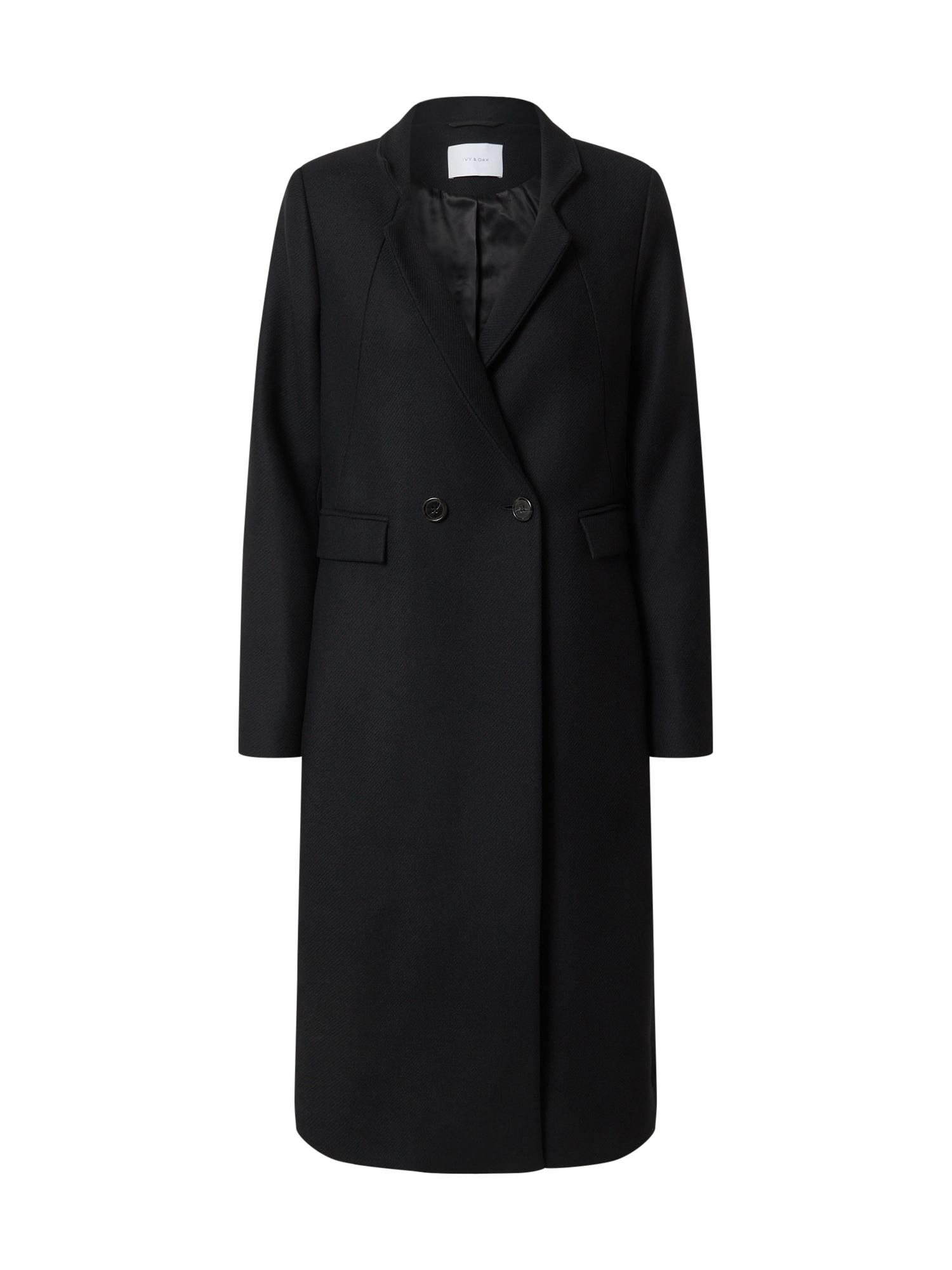 IVY & OAK Demisezoninis paltas juoda