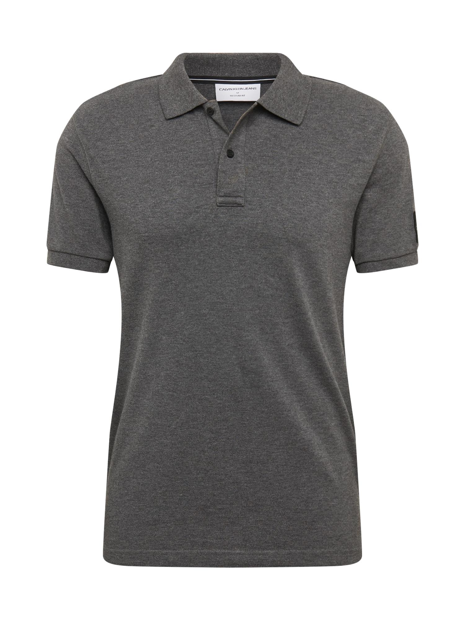 Calvin Klein Jeans Marškinėliai tamsiai pilka
