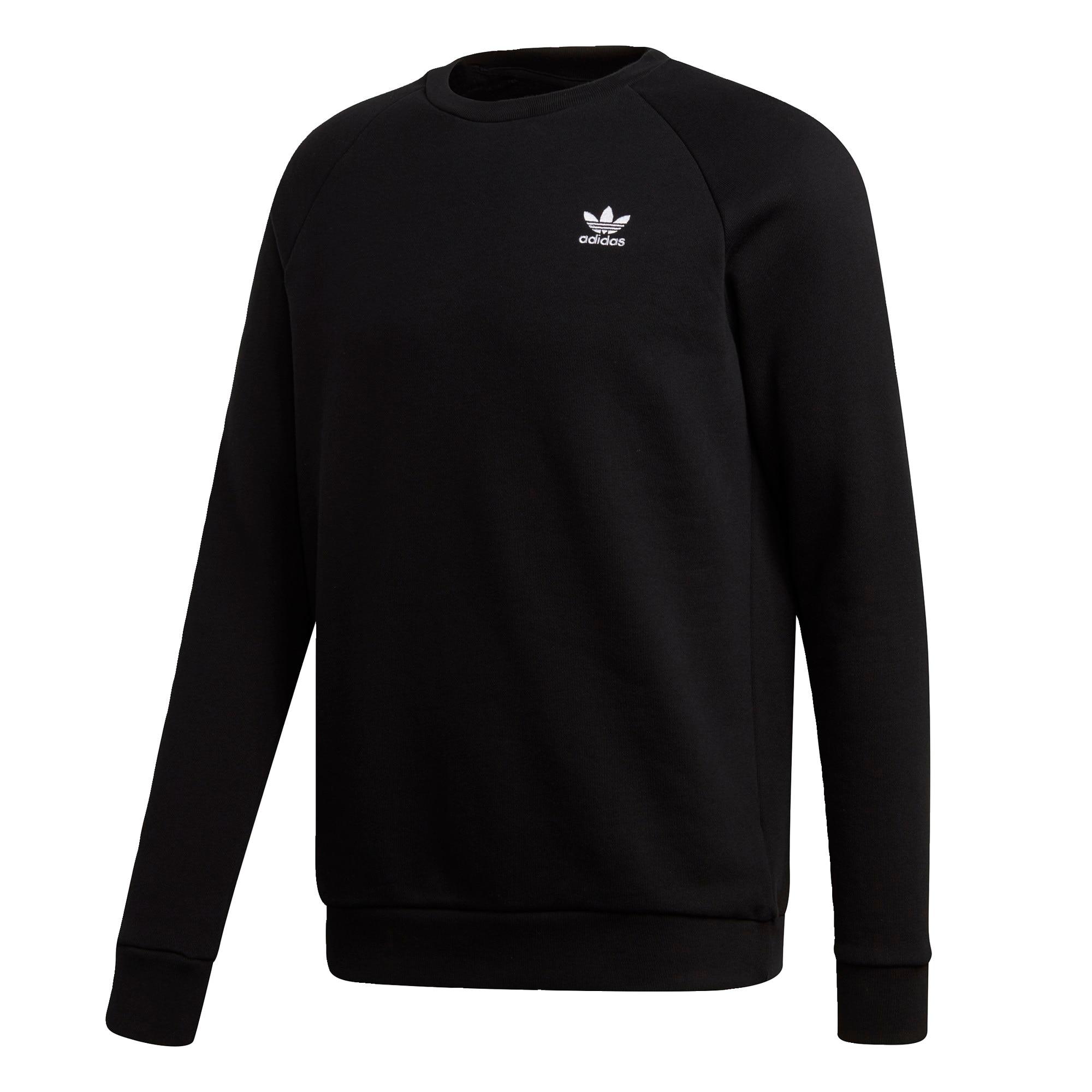 ADIDAS ORIGINALS Megztinis be užsegimo juoda / balta