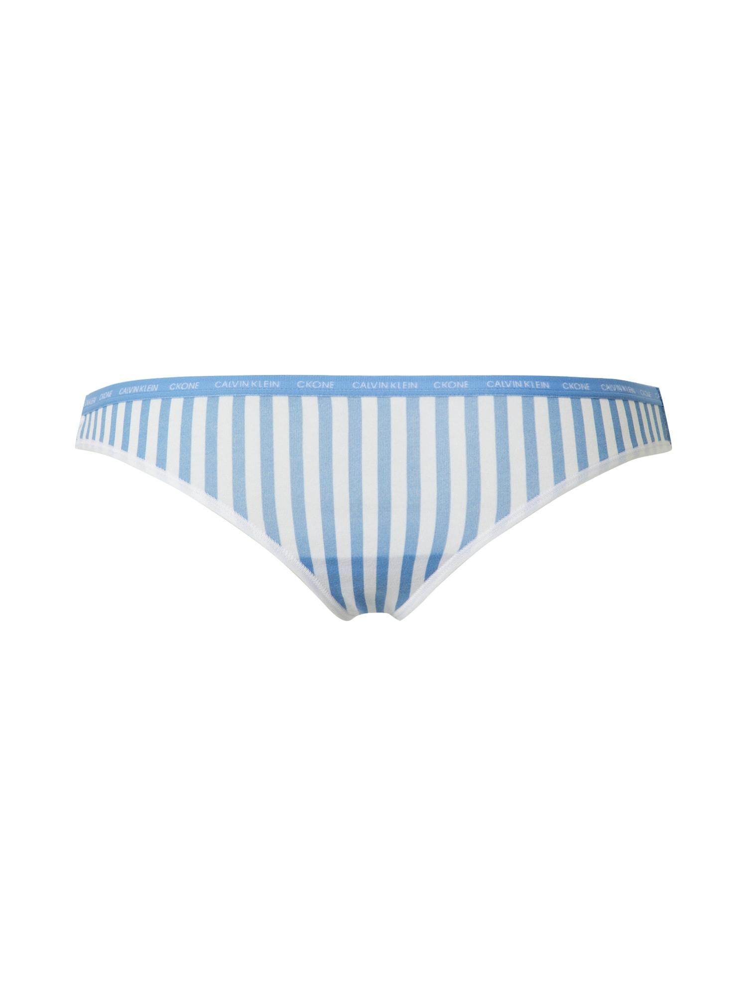 Calvin Klein Underwear Siaurikės balta / mėlyna