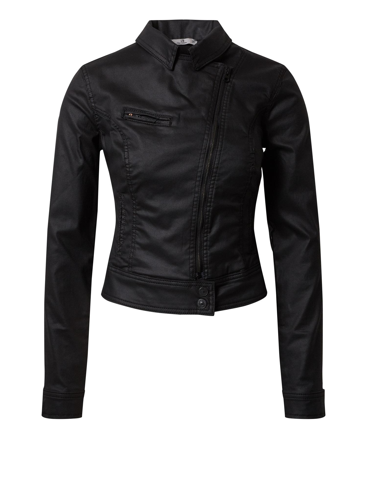 LTB Demisezoninė striukė 'Ellen' juodo džinso spalva