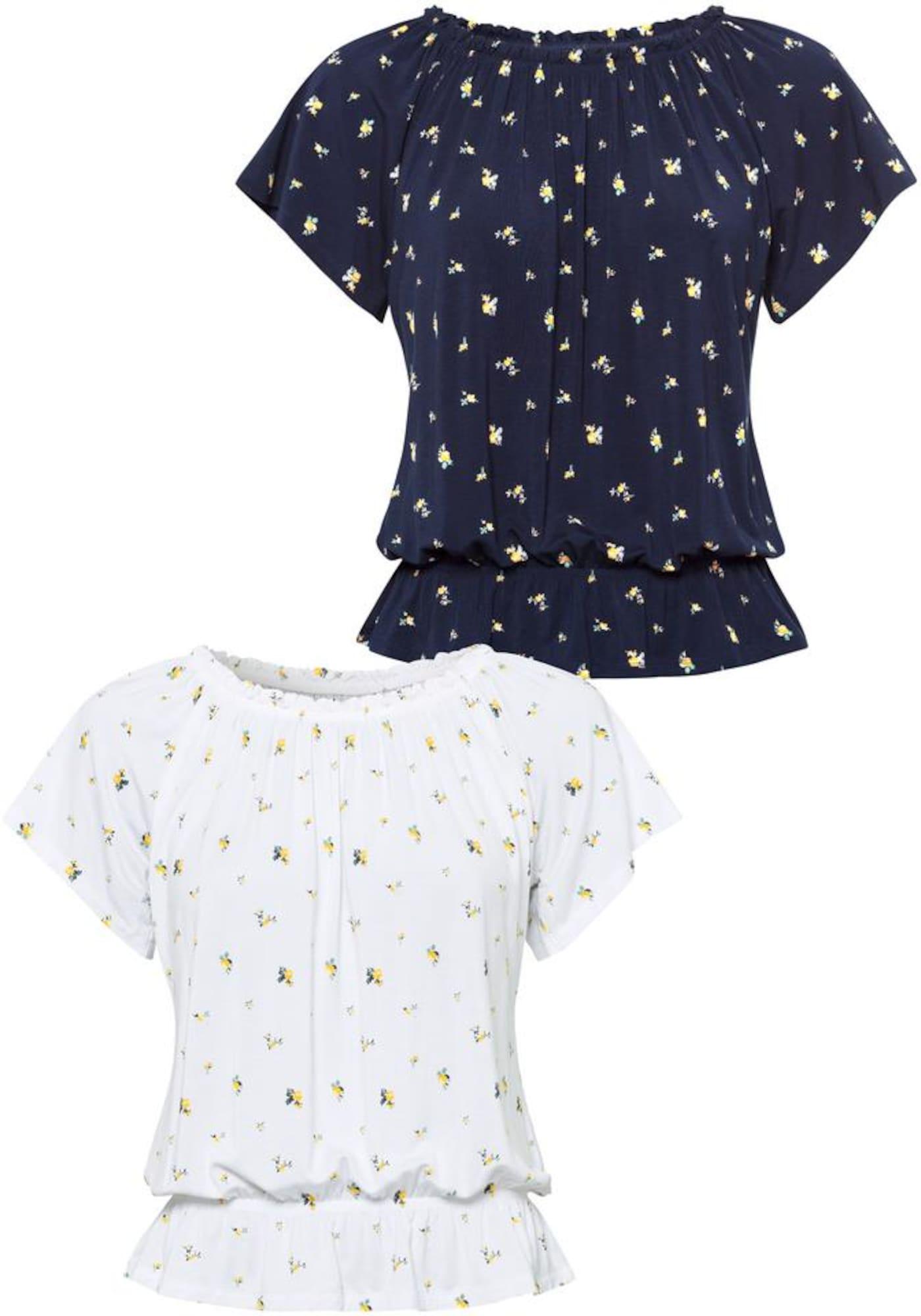 VIVANCE Marškinėliai mėlyna / balta