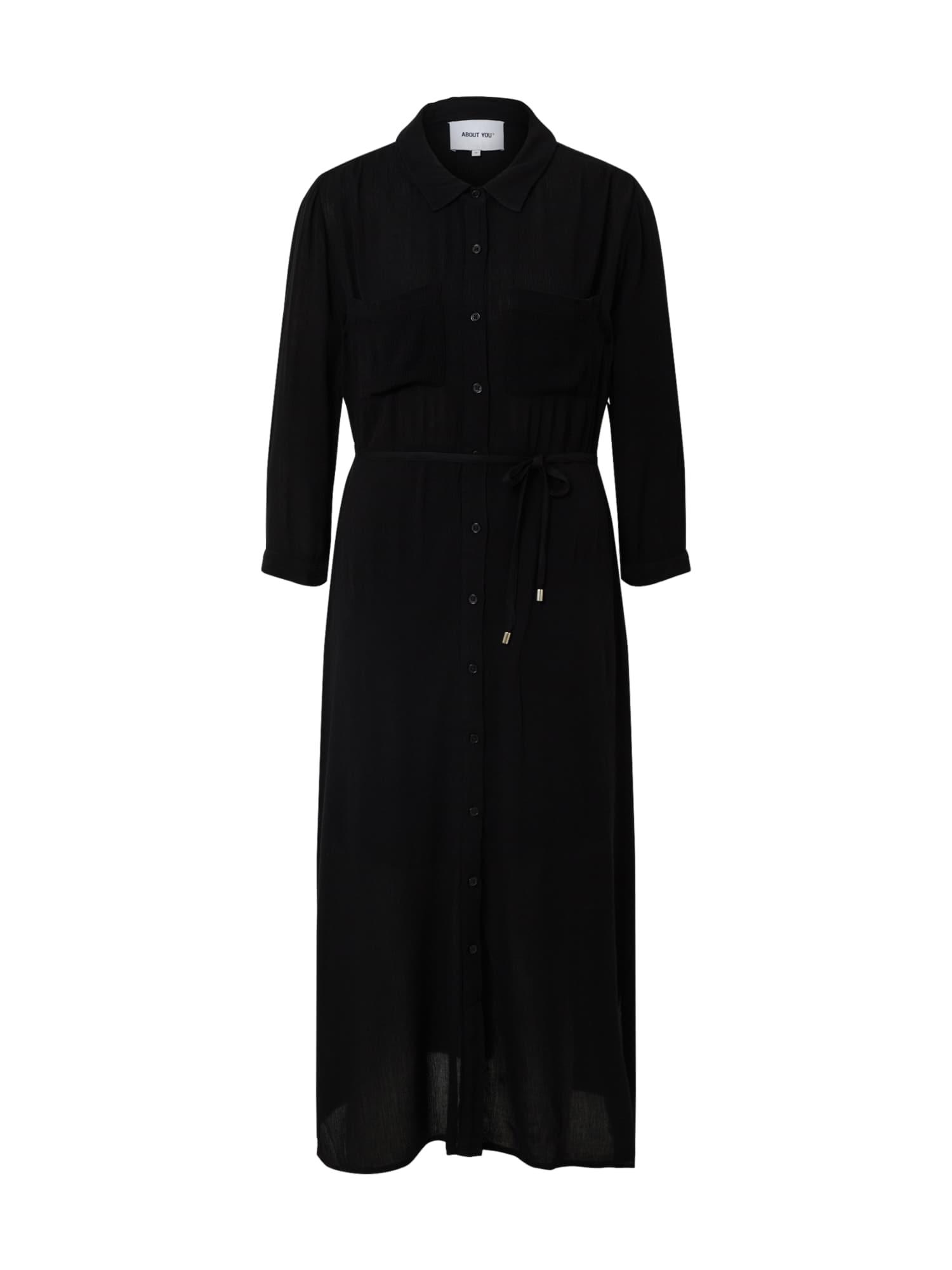 ABOUT YOU Palaidinės tipo suknelė juoda