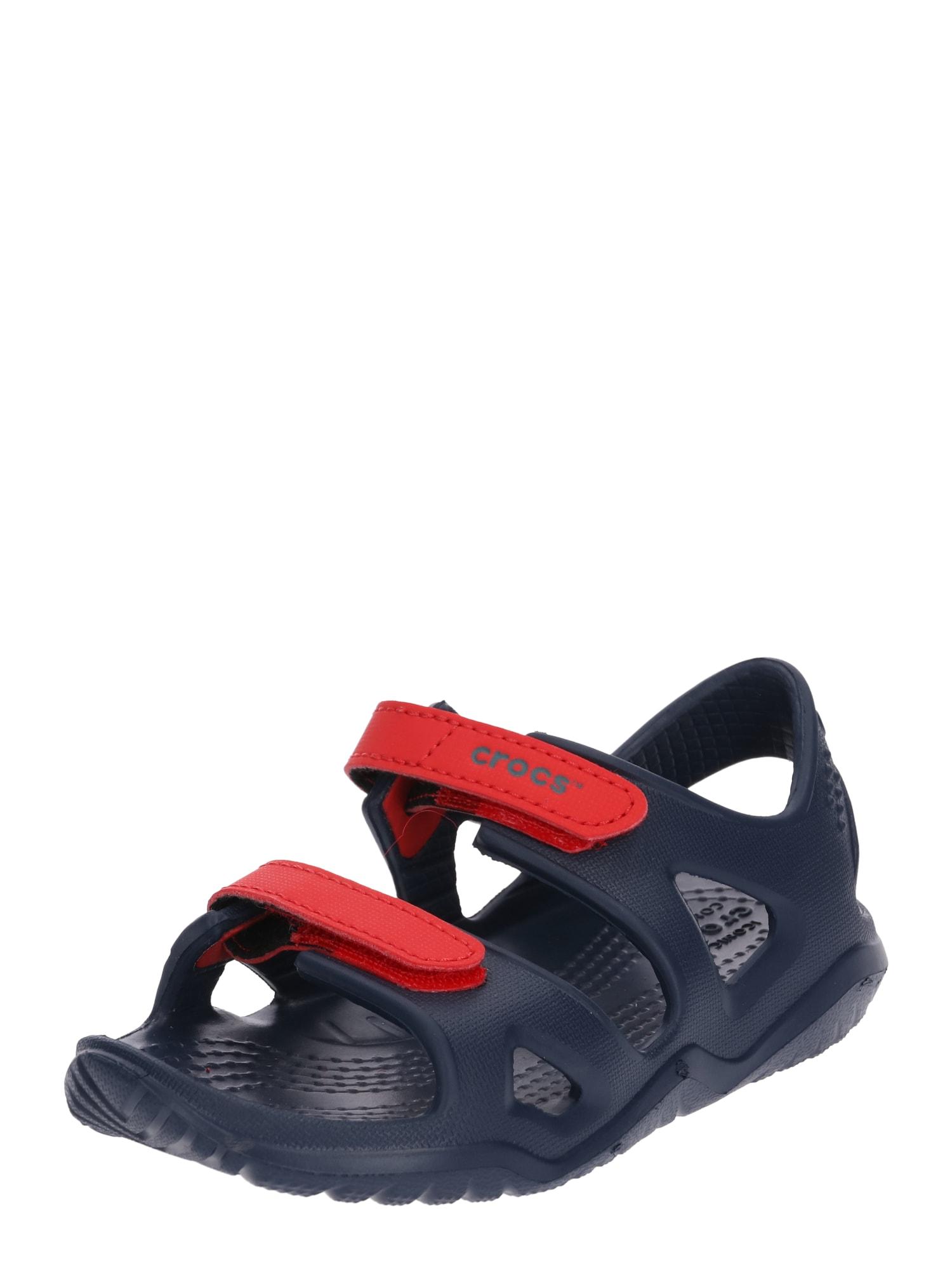 Otevřená obuv Swiftwater River námořnická modř červená Crocs