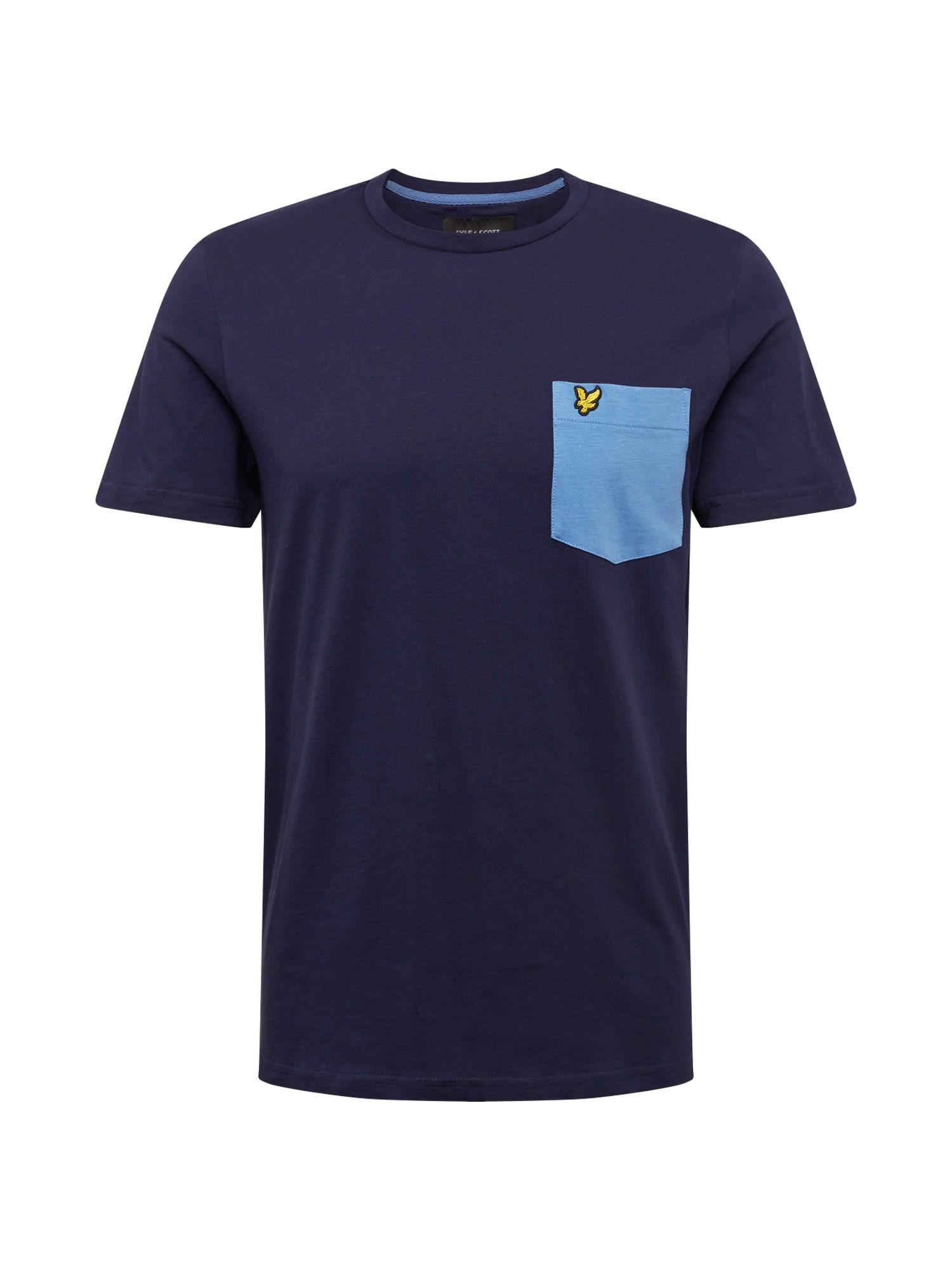Tričko námořnická modř světlemodrá žlutá Lyle & Scott
