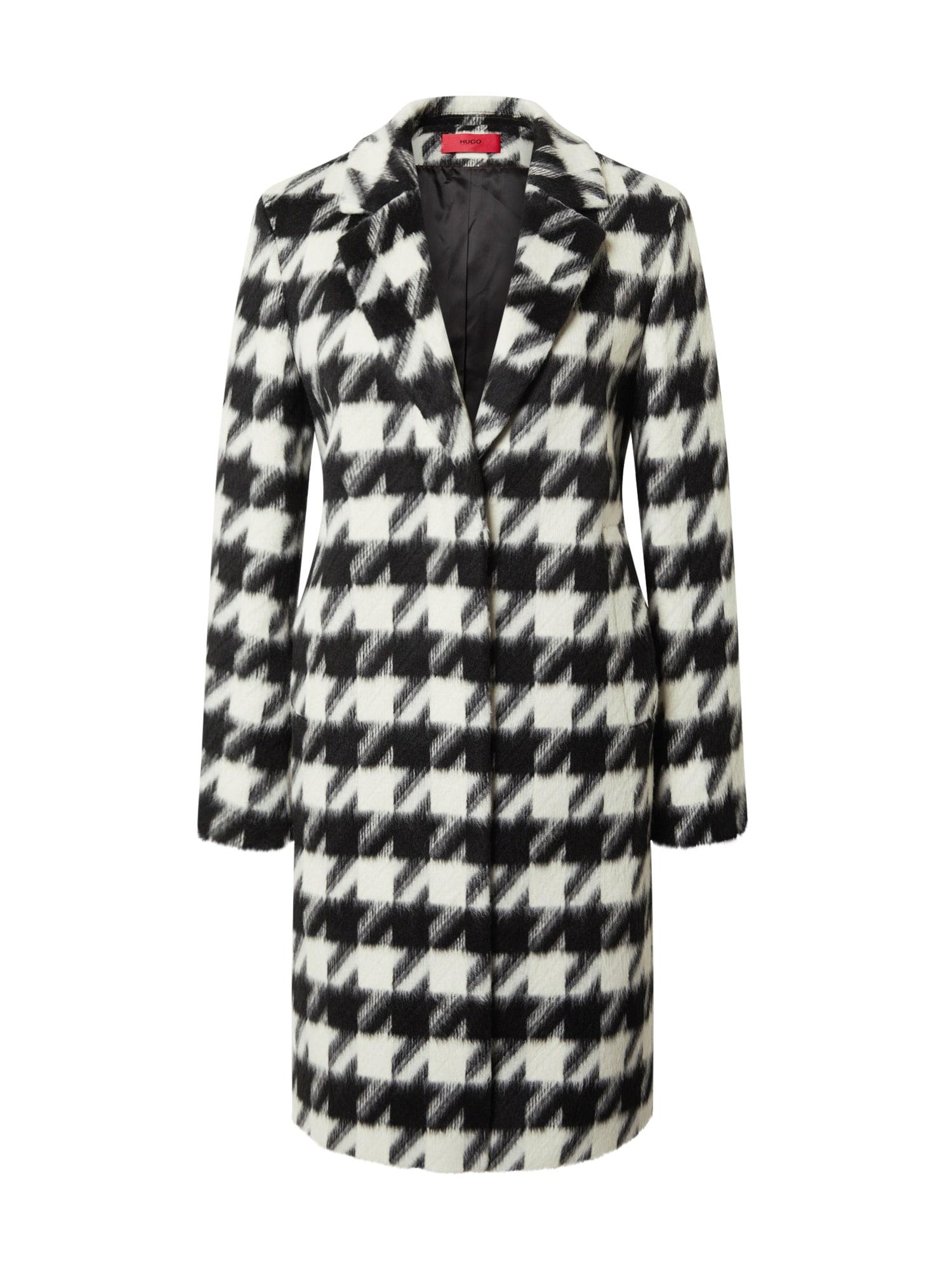 HUGO Rudeninis-žieminis paltas 'Maroni' balta / juoda