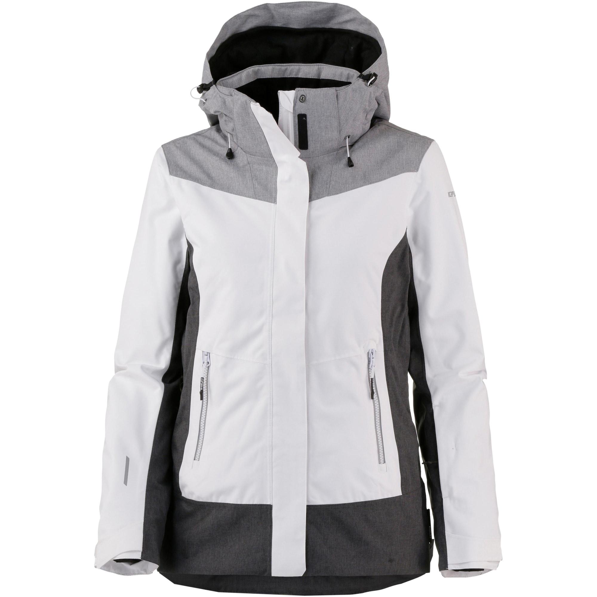 Outdoorová bunda Katia šedá tmavě šedá černá bílá ICEPEAK