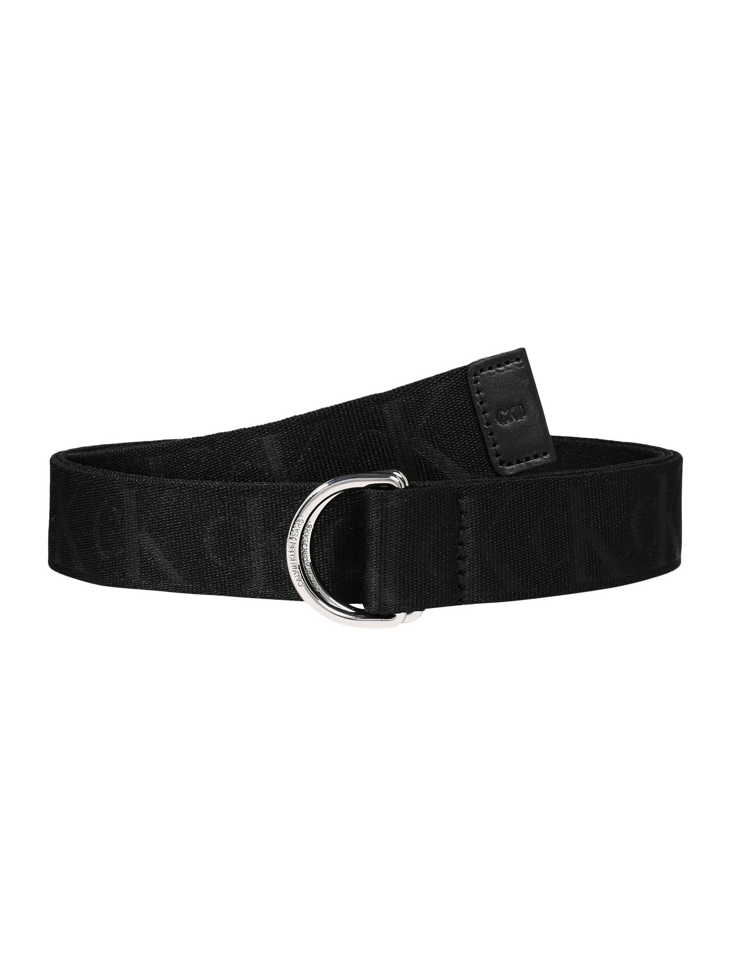 Calvin Klein Jeans Opasky 'CKJ TAPE D-RING 30MM'  čierna