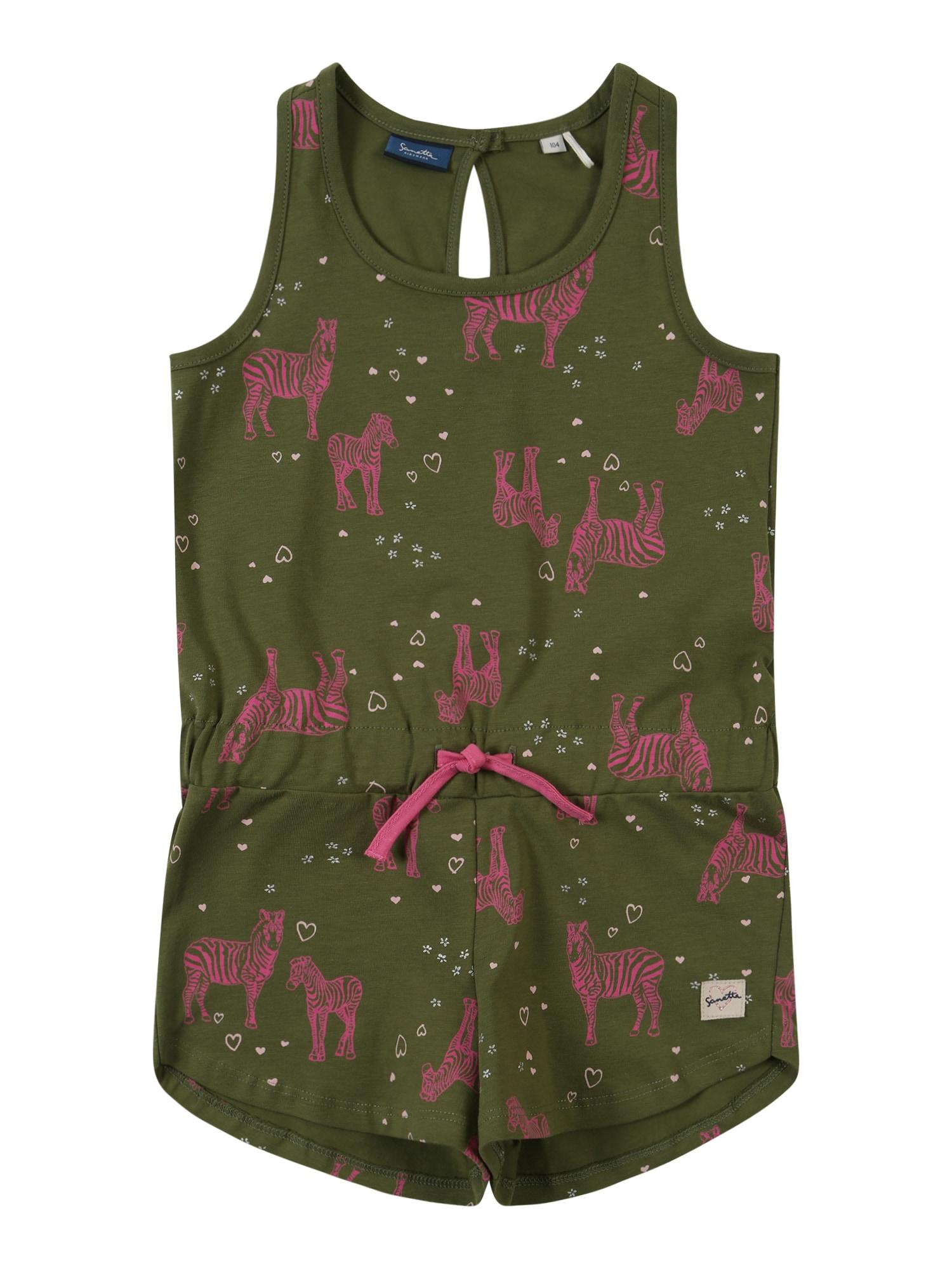 Overal tmavě zelená Sanetta Kidswear