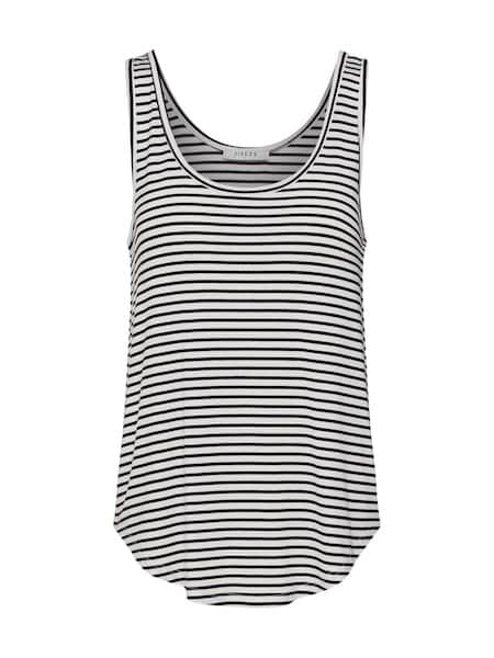 Oberteile für Frauen - PIECES Shirt schwarz weiß  - Onlineshop ABOUT YOU