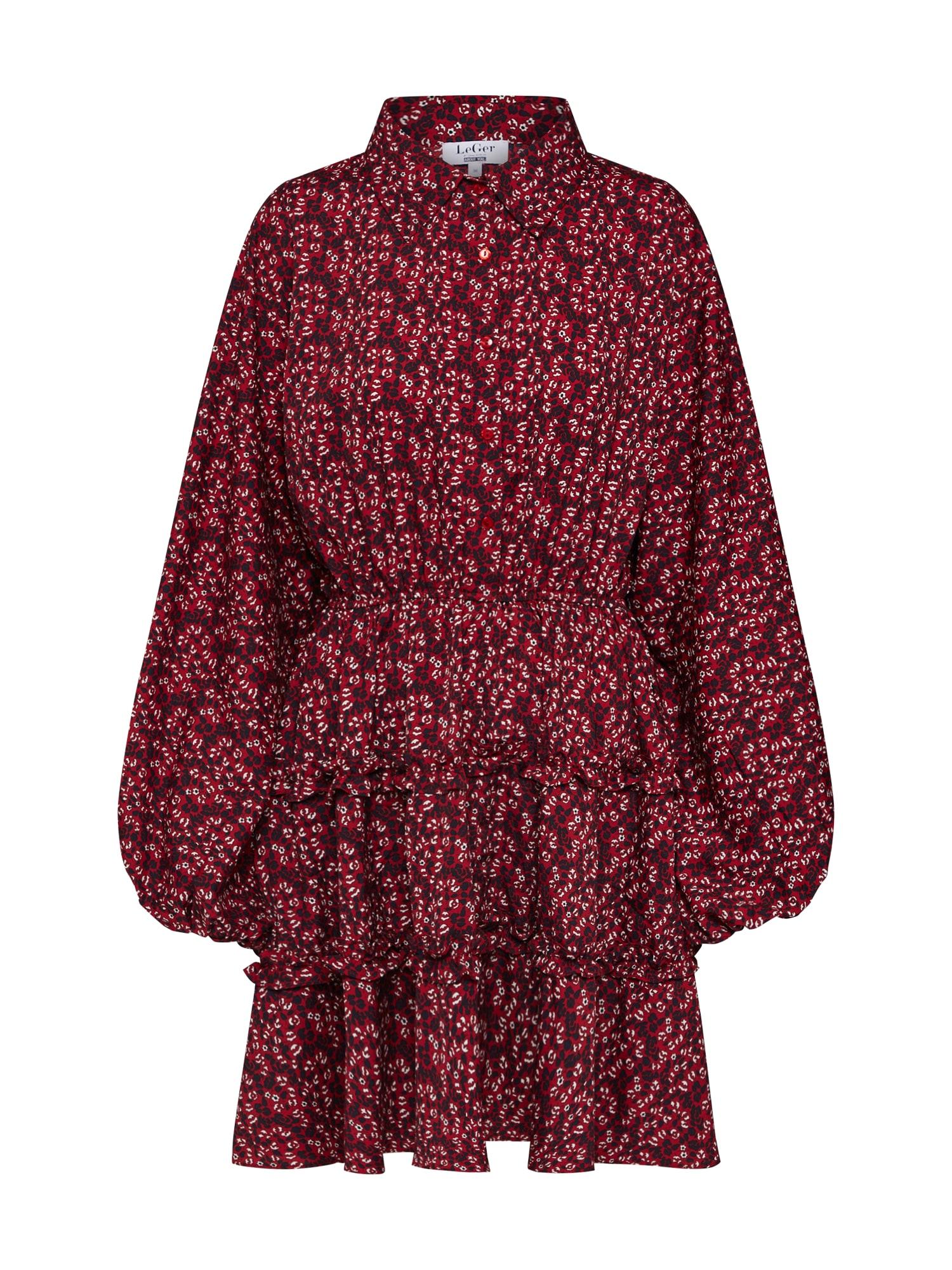 LeGer by Lena Gercke Košeľové šaty 'Franziska'  krvavo červená / čierna