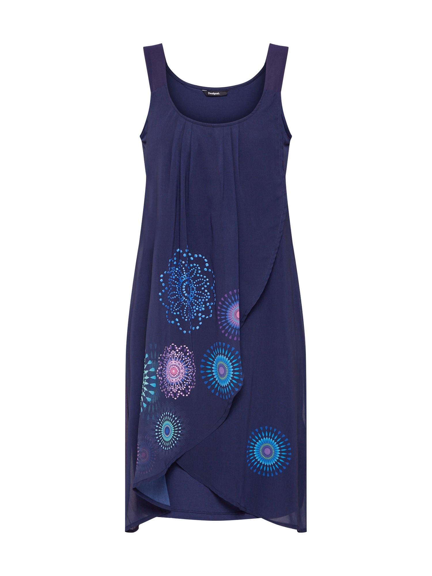 Šaty Vest_Graciela námořnická modř mix barev Desigual