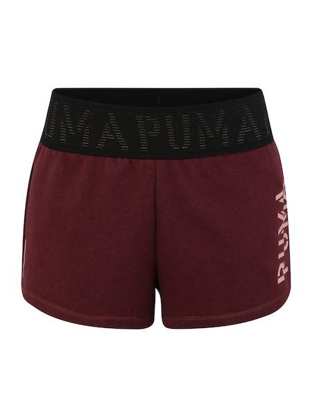 Hosen für Frauen - PUMA Shorts weinrot  - Onlineshop ABOUT YOU