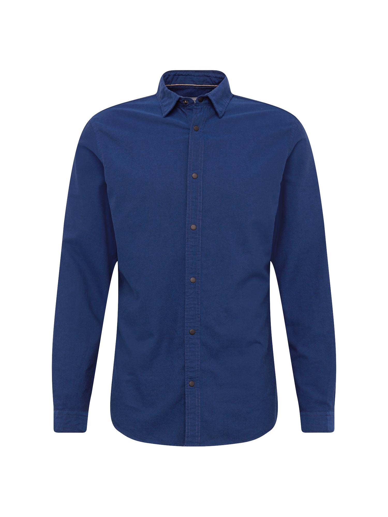 Košile JCOHUDSON LS PLAIN námořnická modř JACK & JONES