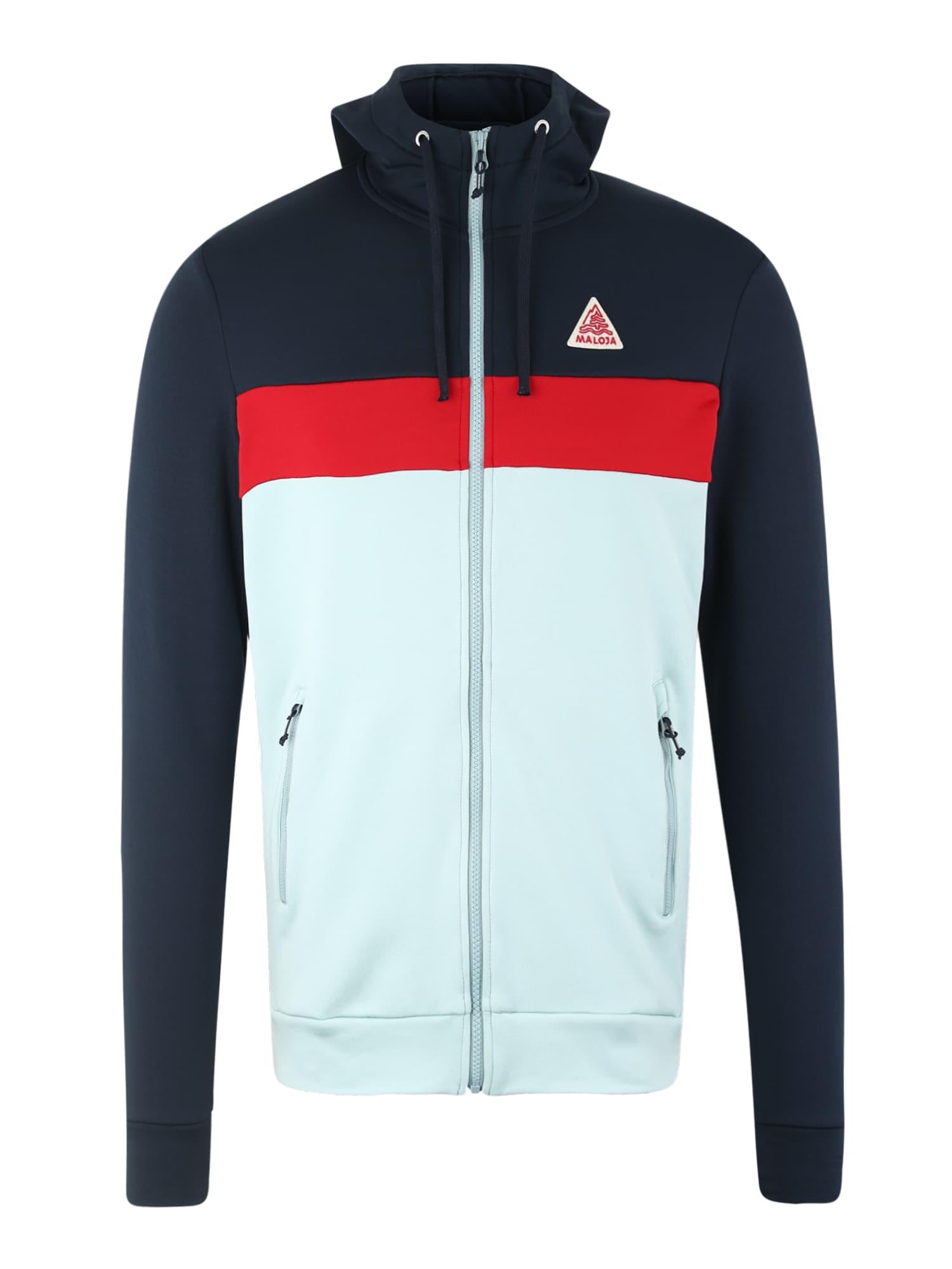 Sportovní bunda ArvinsM. tmavě modrá mátová červená Maloja
