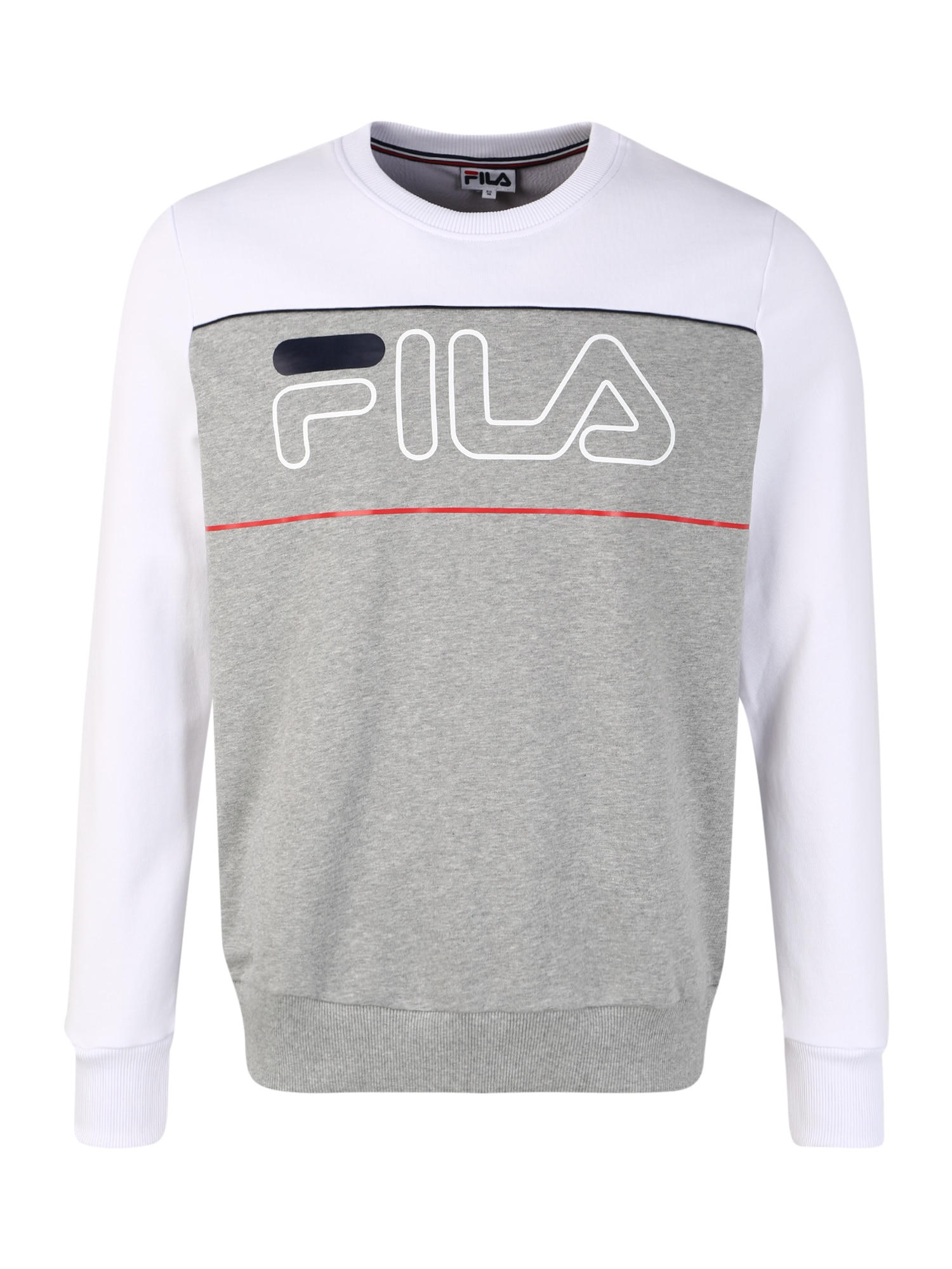 FILA Sportinio tipo megztinis 'Tommy' balta / šviesiai pilka