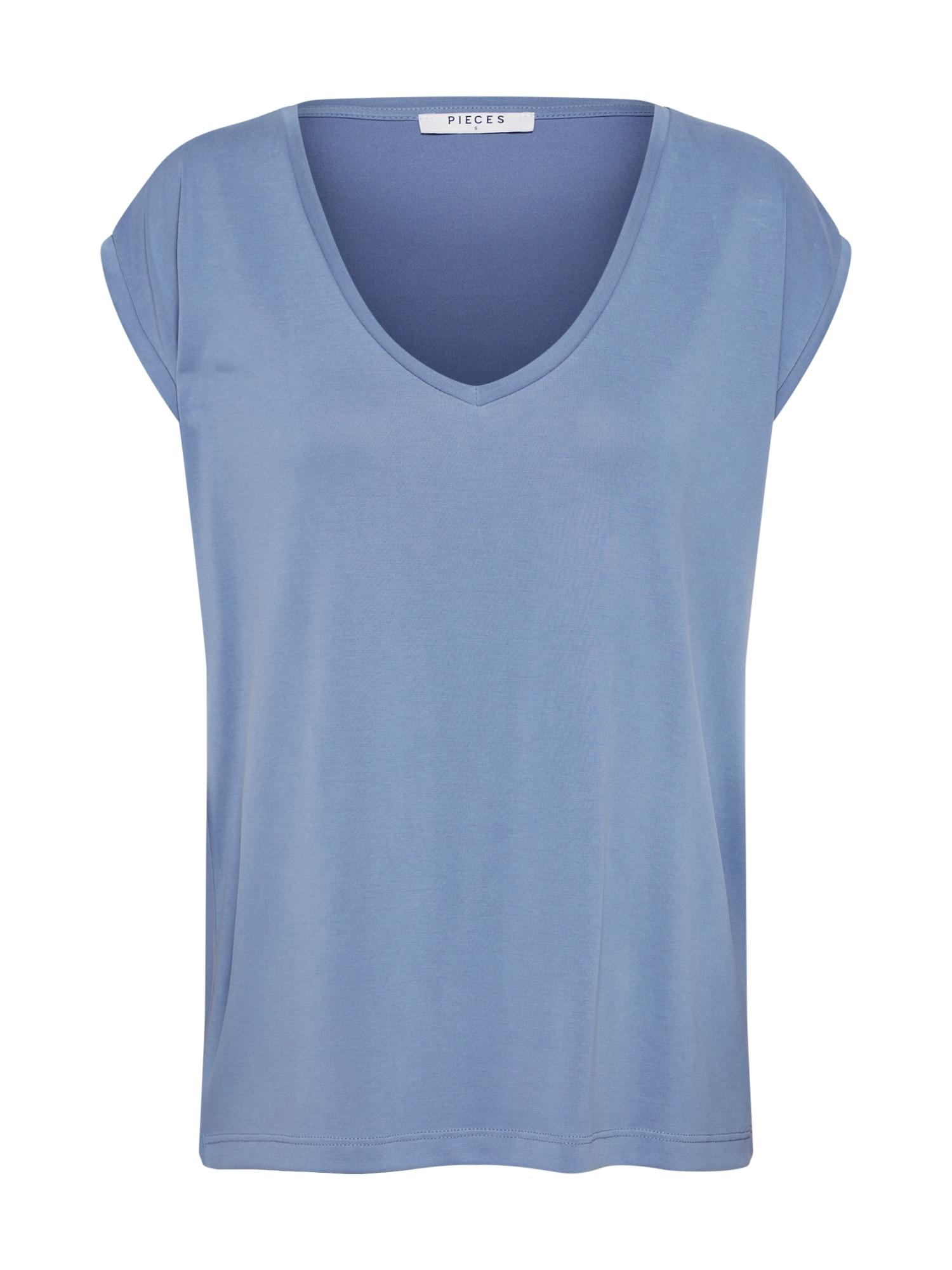Tričko PCKAMALA TEE NOOS modrá PIECES