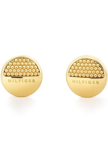 Ohrringe für Frauen - TOMMY HILFIGER Paar Ohrstecker 'CLASSIC SIGNATURE, 2701088' gold  - Onlineshop ABOUT YOU