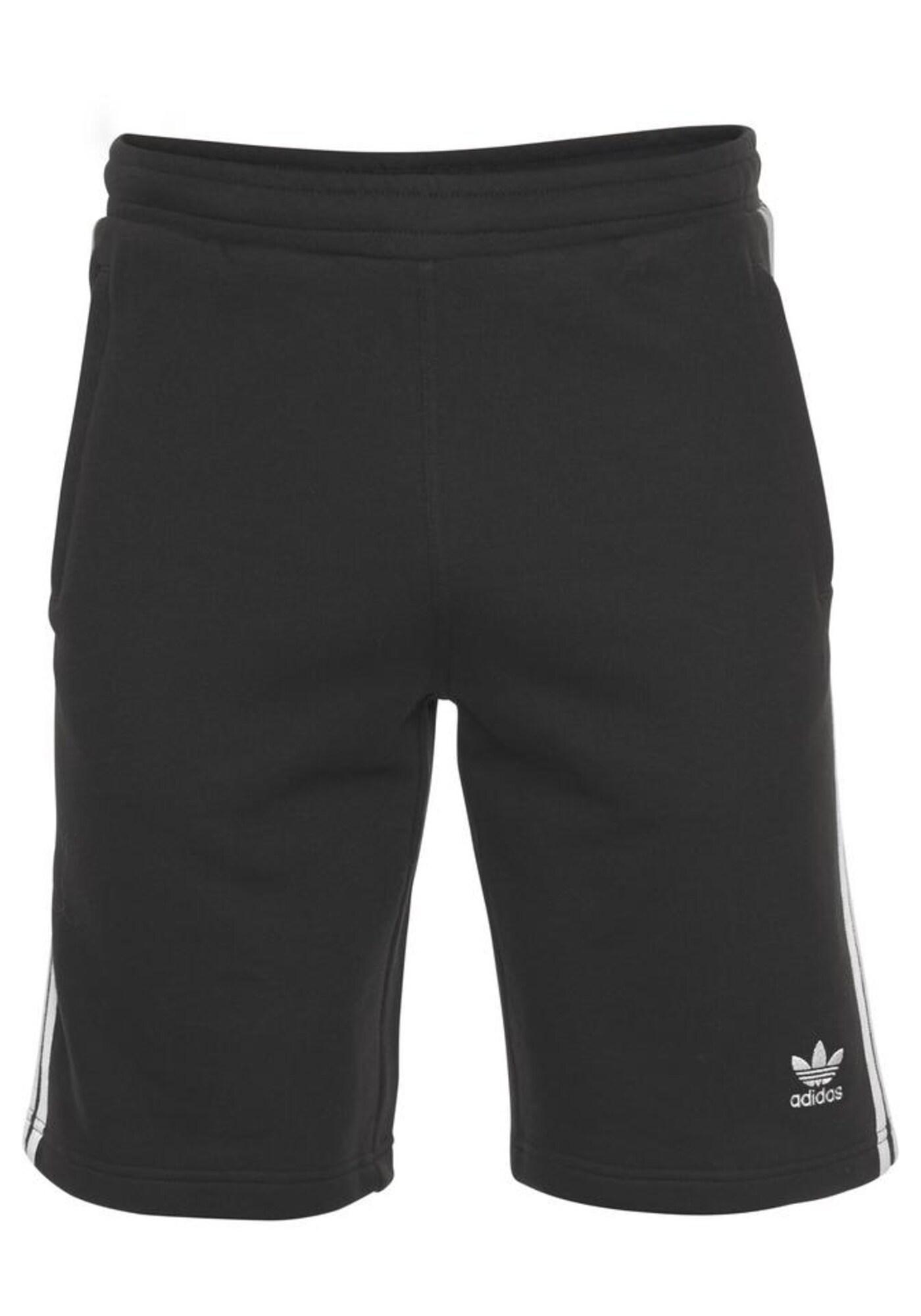 ADIDAS ORIGINALS Kelnės juoda / balta