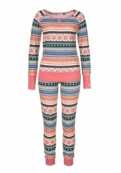Waesche für Frauen - BENCH Pyjama koralle  - Onlineshop ABOUT YOU