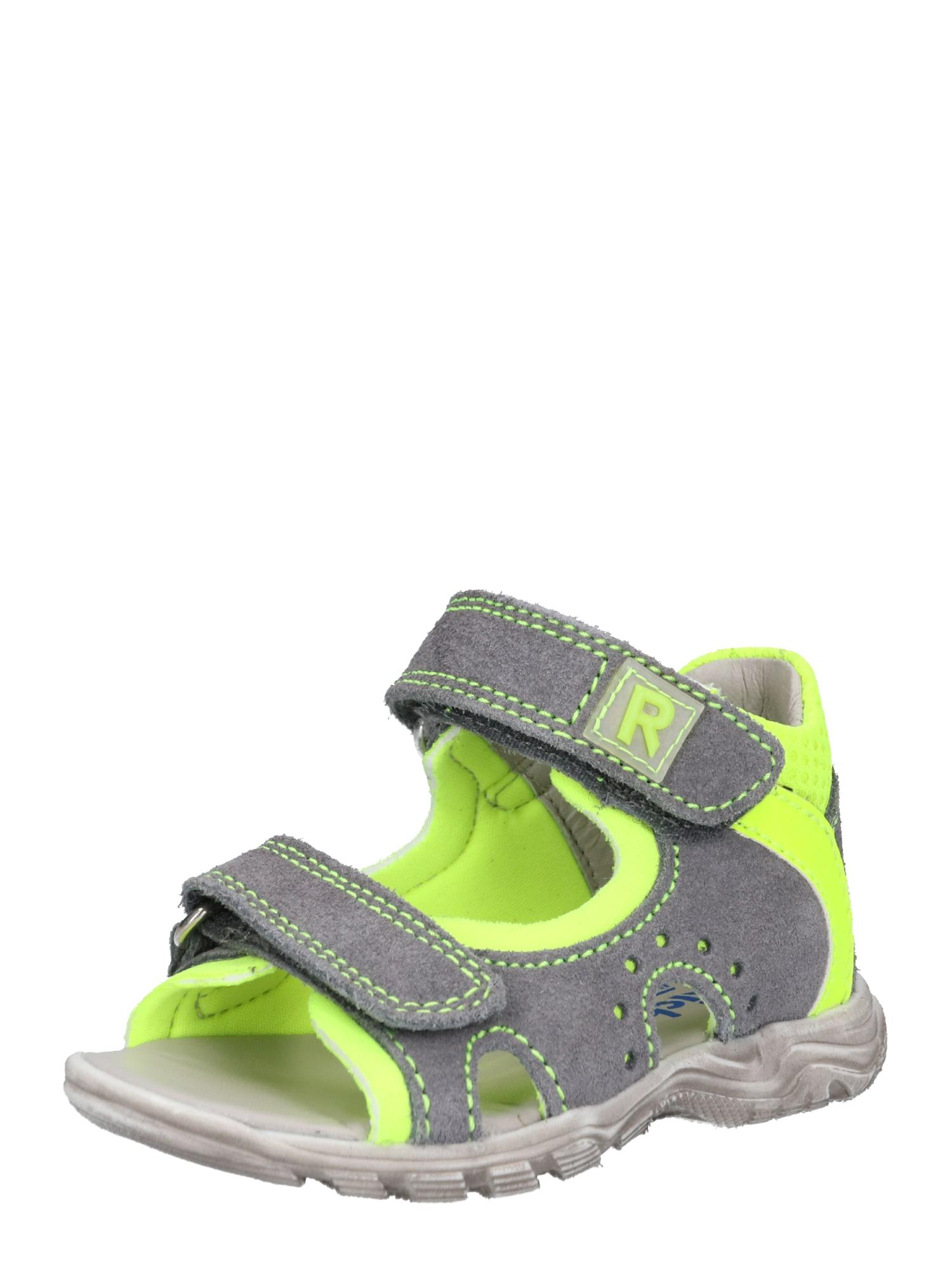 Sandály 2306 543 svítivě žlutá šedá RICHTER