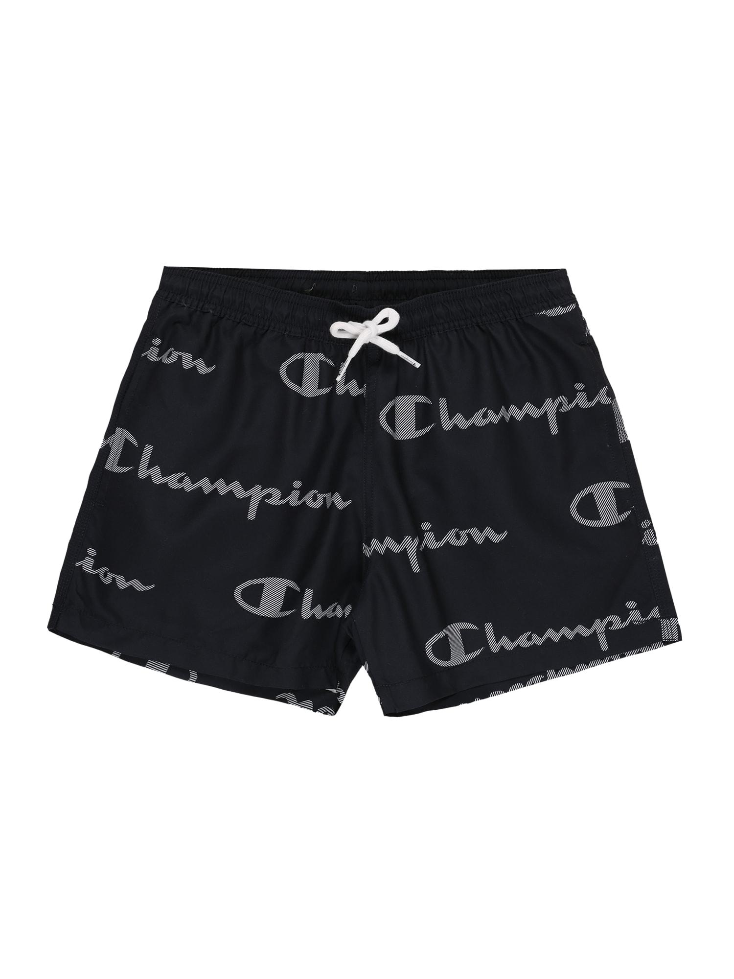 Champion Authentic Athletic Apparel Maudymosi trumpikės 'Beachshort' tamsiai mėlyna / balta