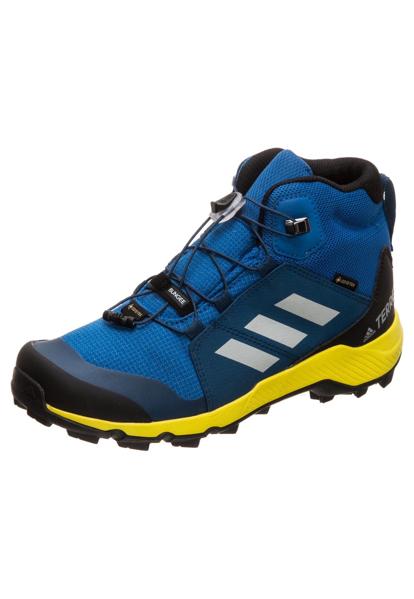 ADIDAS PERFORMANCE Auliniai batai 'Terrex Mid GTX' sidabras / mėlyna / geltona