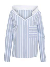 DRYKORN Damen Bluse PALOMA blau,weiß | 04056816055051