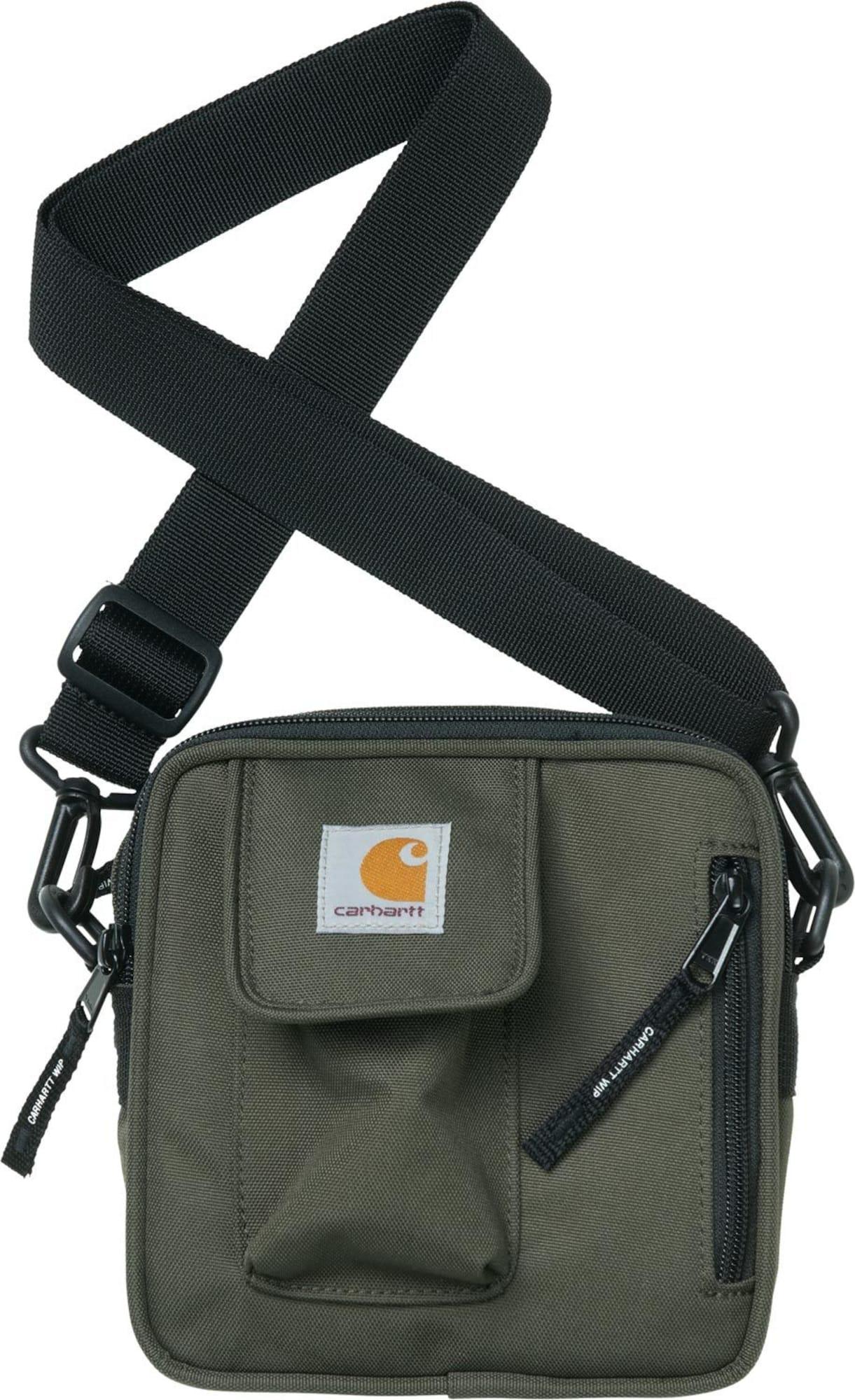 Carhartt WIP Taška cez rameno 'Essentials'  tmavozelená / čierna
