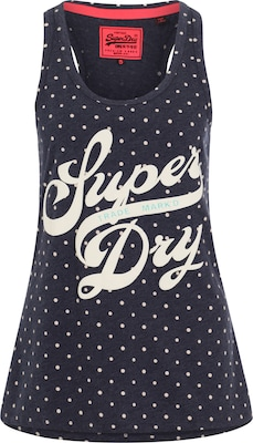 Superdry Top mit Logoprint