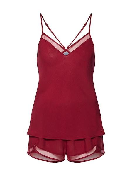 Waesche für Frauen - Calvin Klein Underwear Shorty 'CAMI SHORT SLEEP SET' rot  - Onlineshop ABOUT YOU