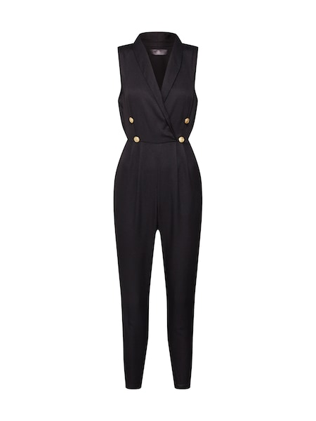 Hosen - Overall 'Military Button Sleeveless Jumpsuit' › Missguided › schwarz  - Onlineshop ABOUT YOU