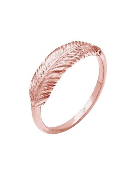 Ringe - Ring 'Feder' › ELLI › rosegold  - Onlineshop ABOUT YOU