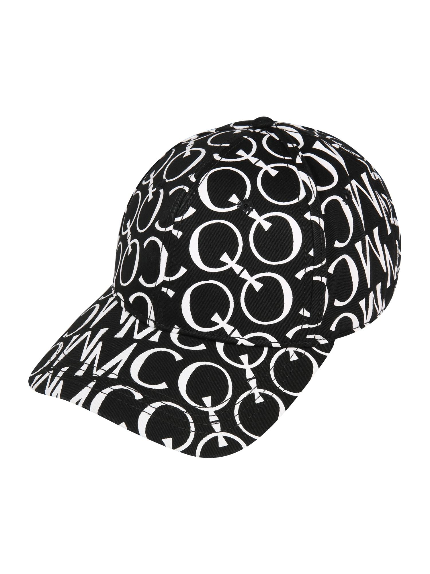 McQ Alexander McQueen Kepurė 'BASEBALL CAP' balta / juoda