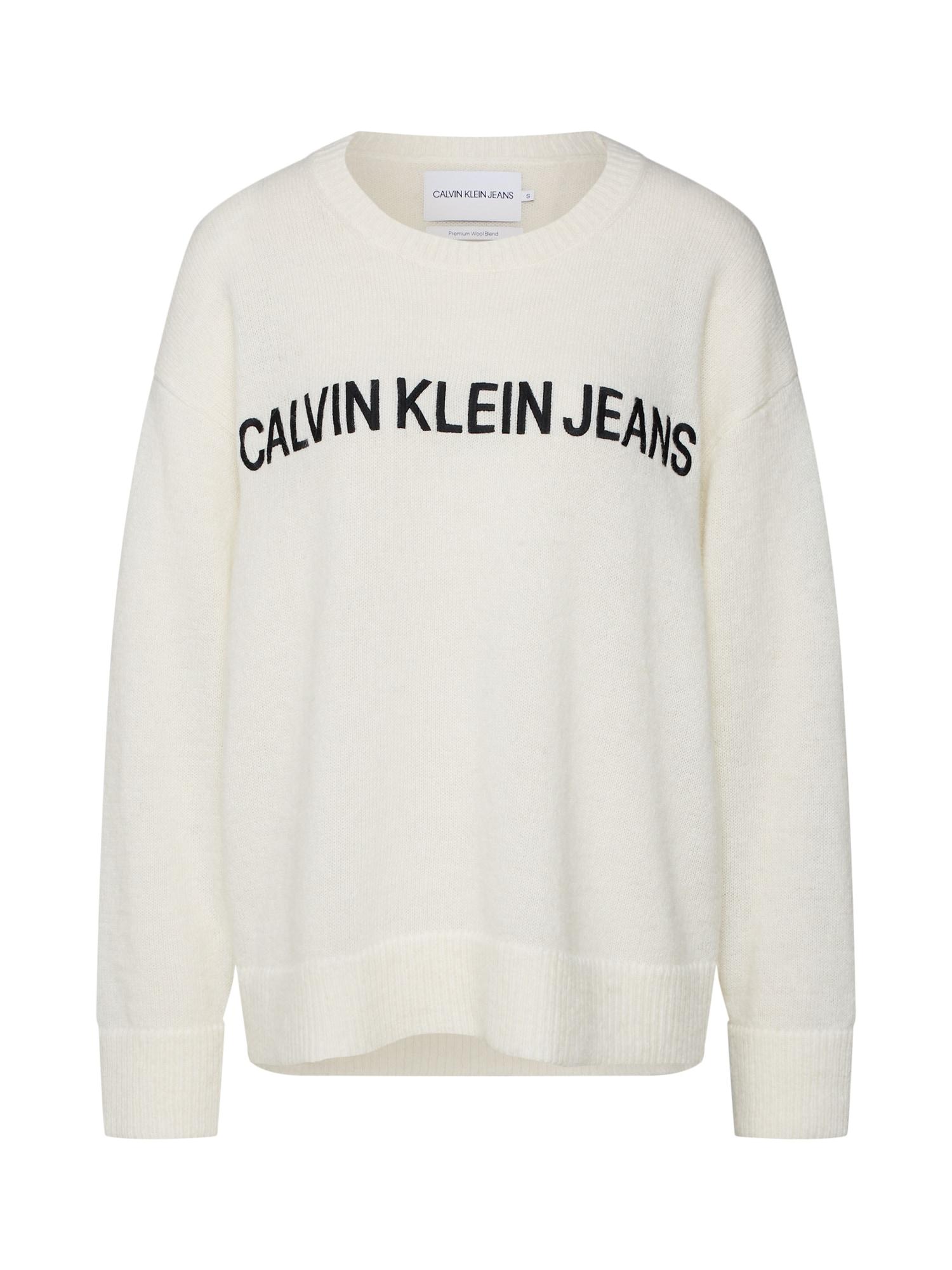 Zwart Wit Trui Dames.Aanbieding Calvin Klein Jeans Dames Trui Zwart Wit Calvin Klein