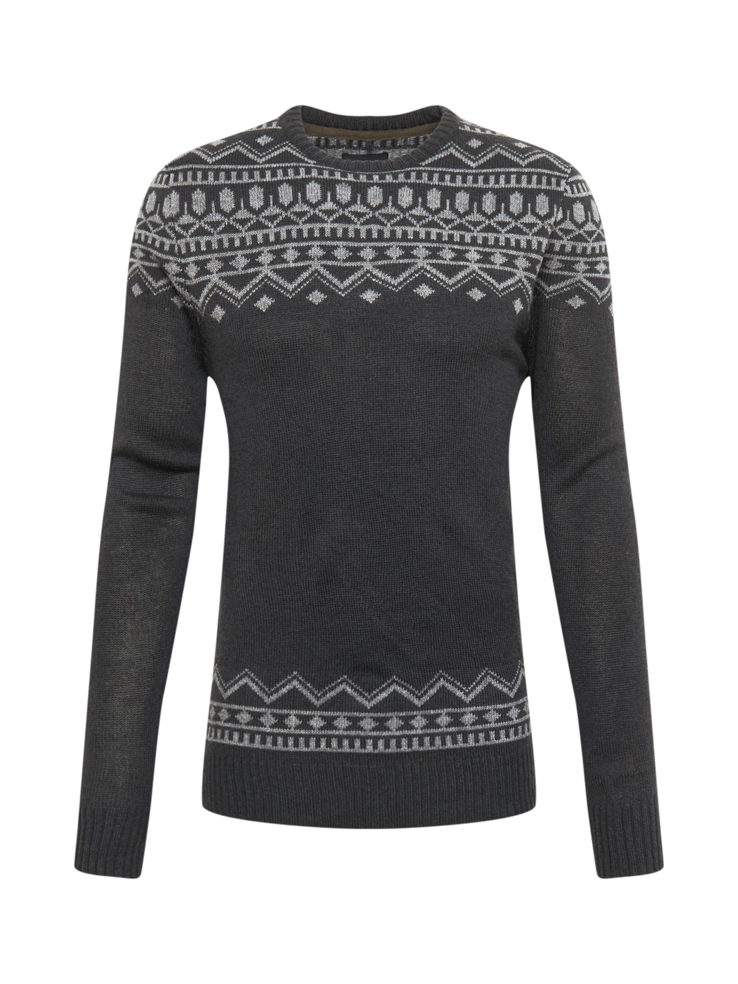 BLEND Megztinis 'Knit Pullover' tamsiai mėlyna