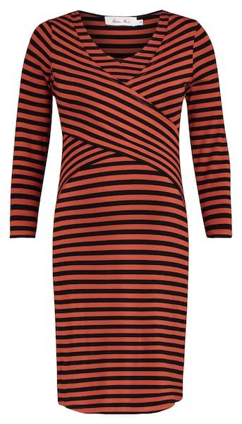Schwangerschaftsmode - Still Kleid › QUEEN MUM › rostbraun schwarz  - Onlineshop ABOUT YOU
