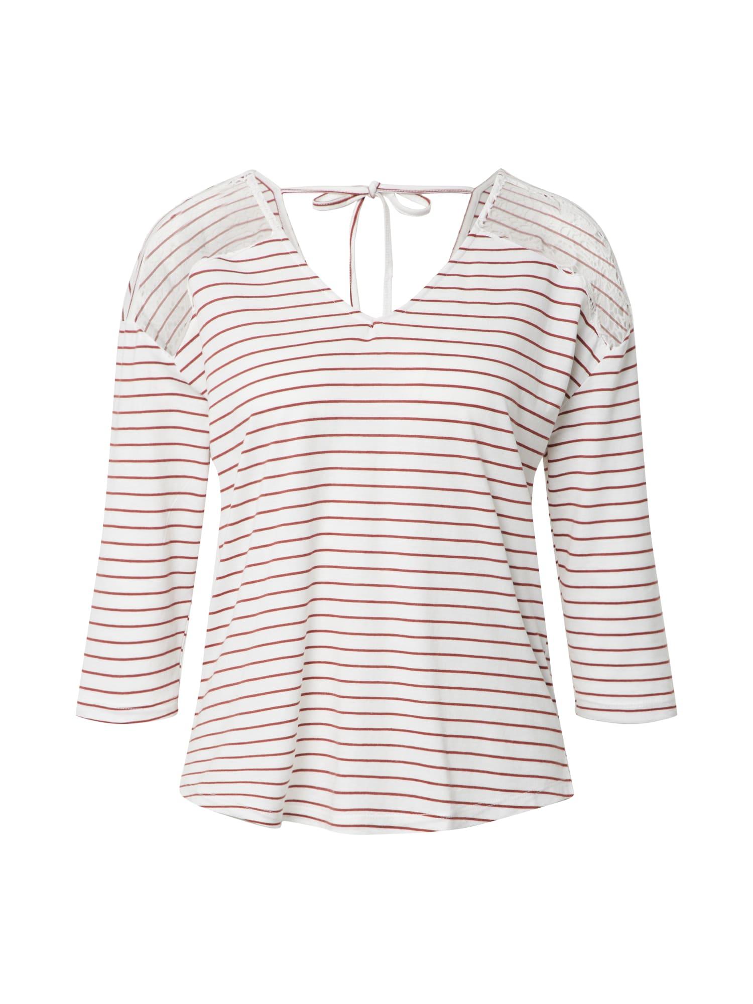 VERO MODA Tričko 'VMHELA'  biela / červené