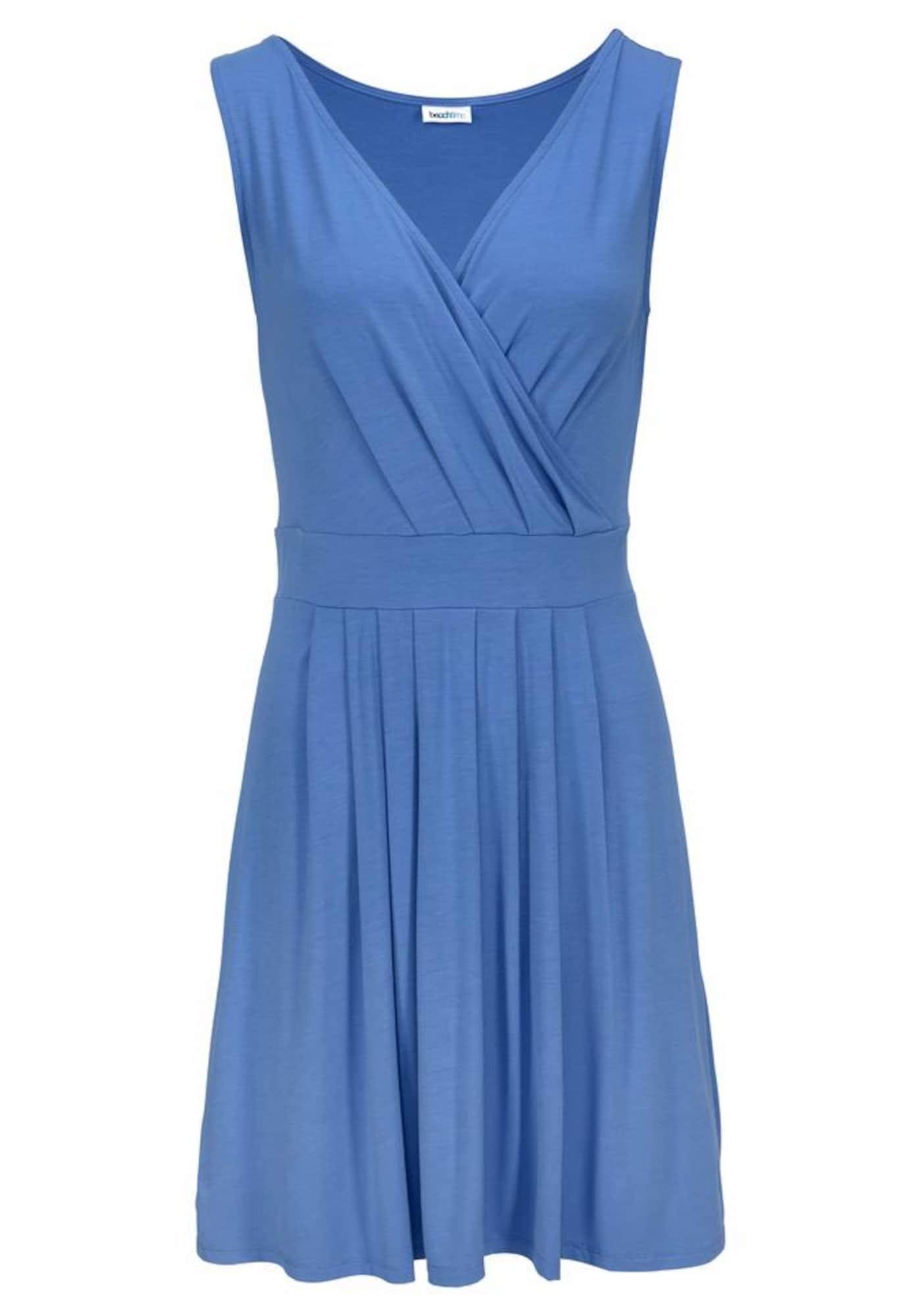 BEACH TIME Paplūdimio suknelė mėlyna dūmų spalva
